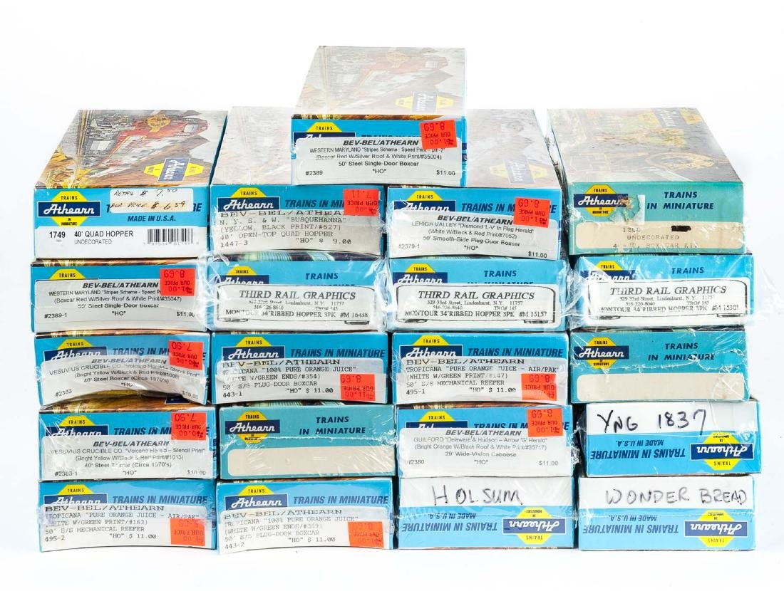 21 Athearn HO Scale Freight Kits in OBs