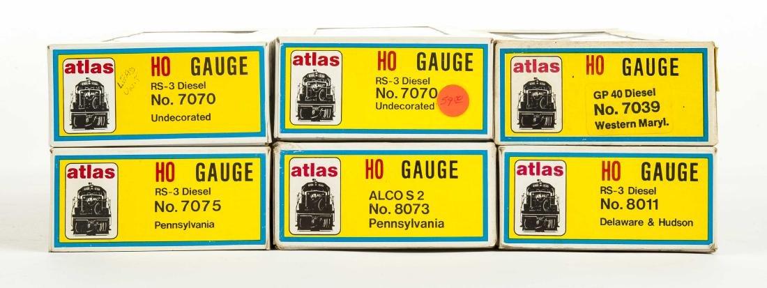 6 Atlas HO Gauge Diesel Locos in OBs