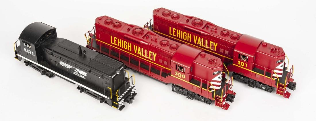 3 MTH O Gauge Diesel Engine Locomotives