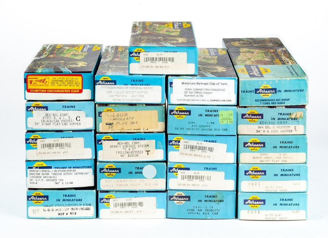 21 Athearn HO Cars in Boxes Incl MRRC of York