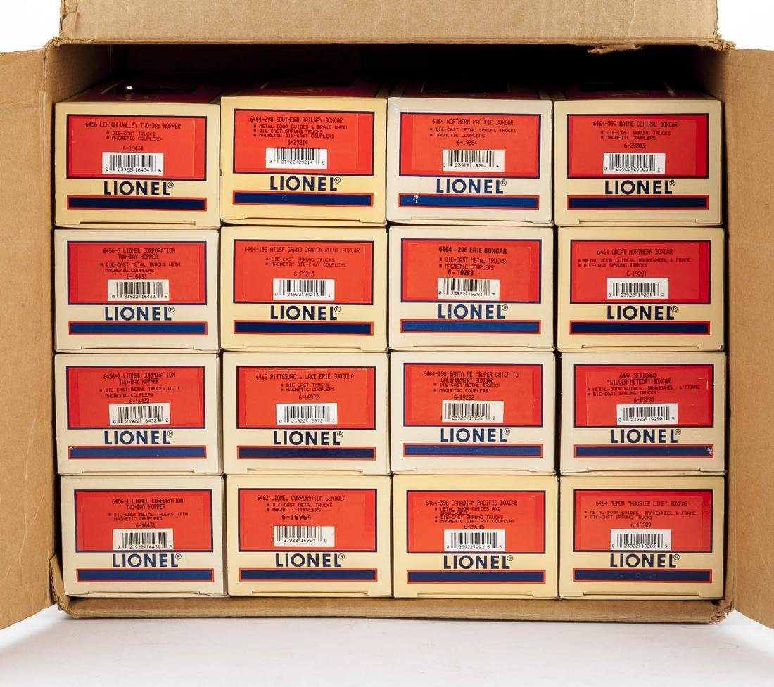 16 Lionel O Gauge Freight Cars in OBs