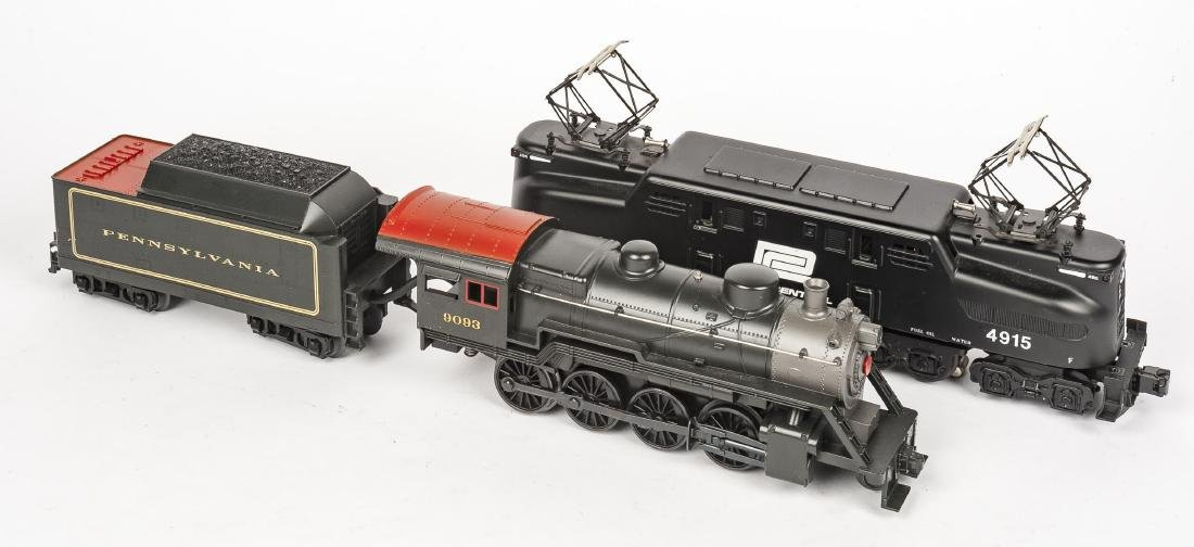 MTH O Gauge Incl PRR Steam Loco & Tender