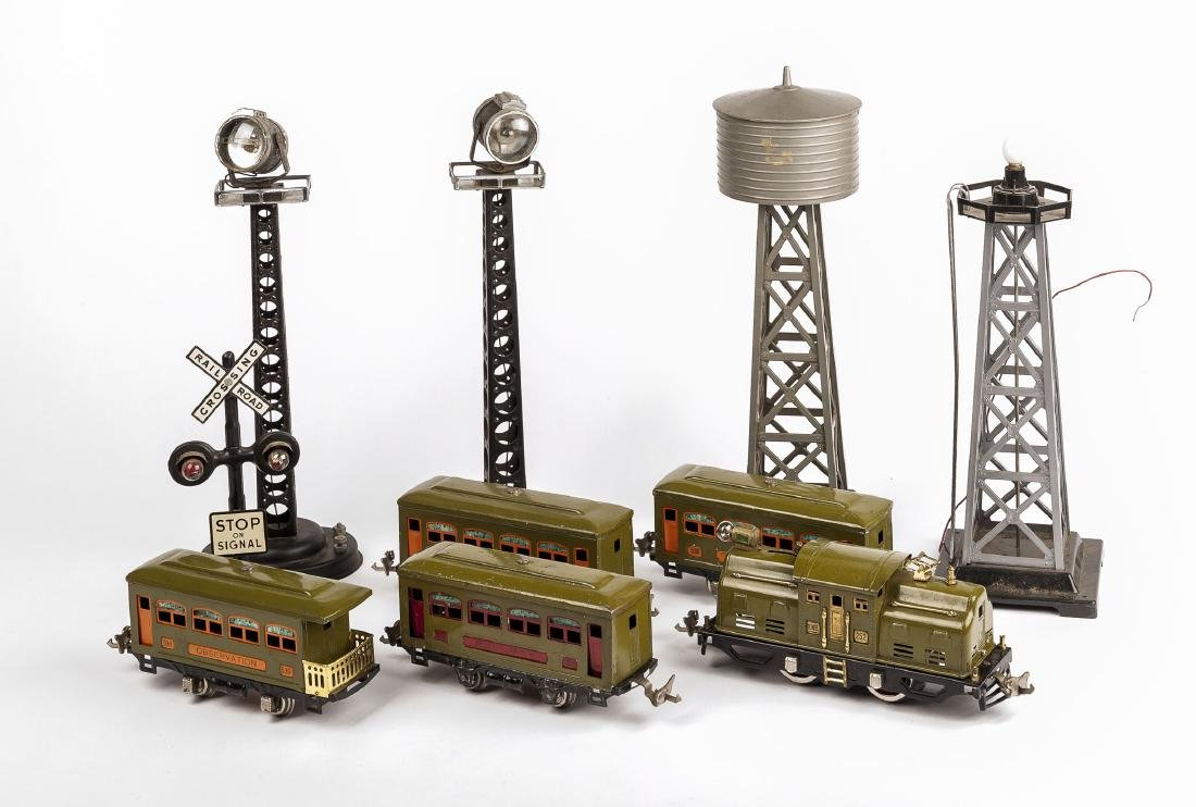 5 Prewar Lionel Cars and 5 Marx Accessories