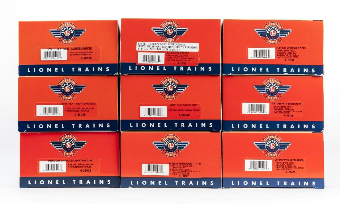 9 Lionel O Gauge Freight Cars in OBs