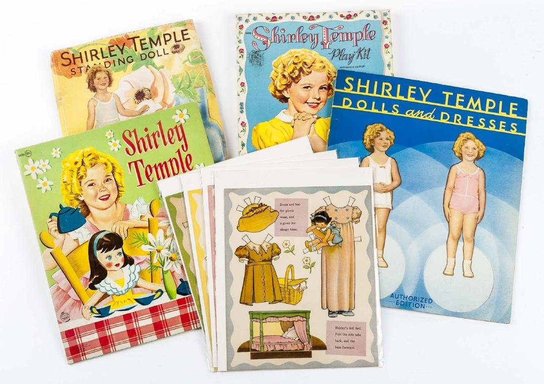 5 Sets of Unused Shirley Temple Paper Dolls