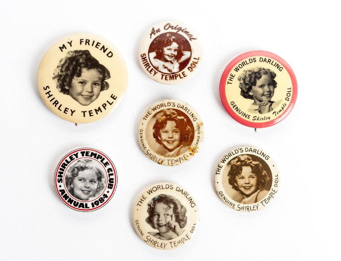 7 Vintage Shirley Temple Pins incl. Ideal