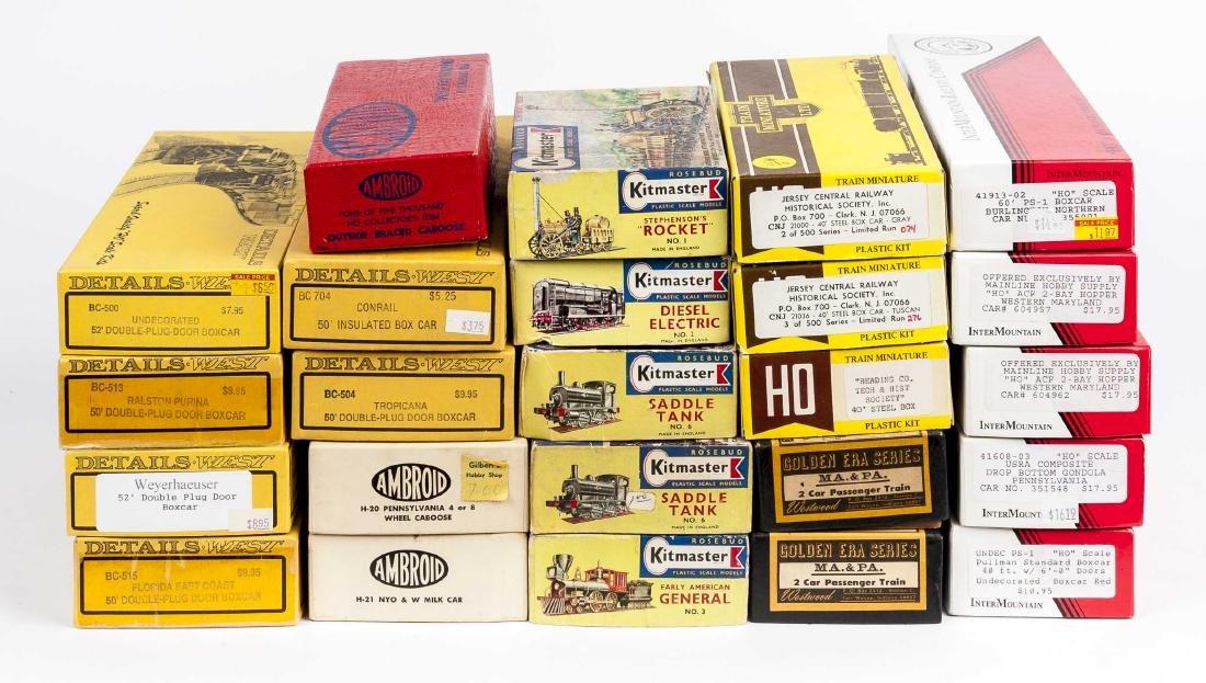 24 HO Kits Incl Kitmaster, InterMountain & Ambroid