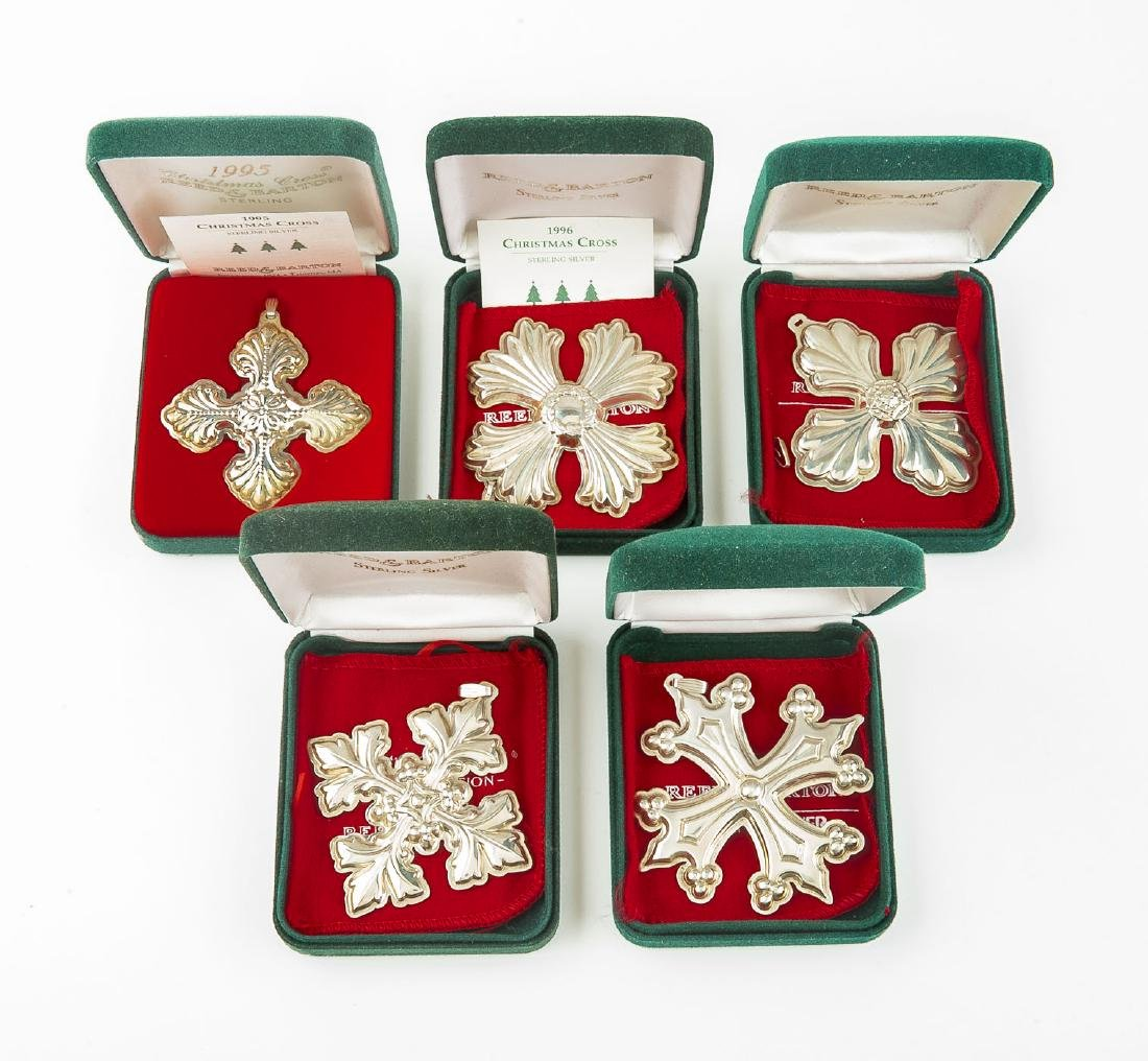 5 Reed & Barton Sterling Christmas Crosses