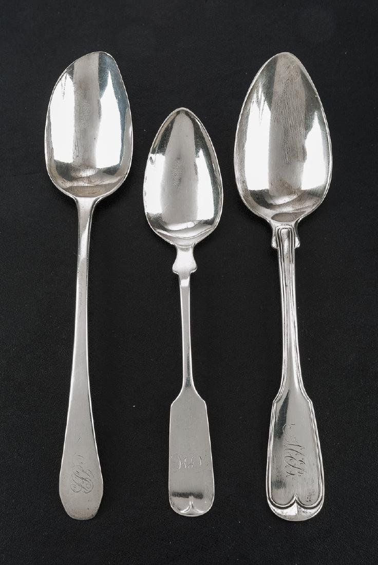3 Coin Silver Tablespoons