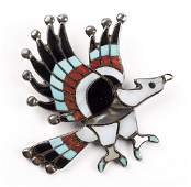 C Dishta Zuni Inlaid Eagle PinPendant