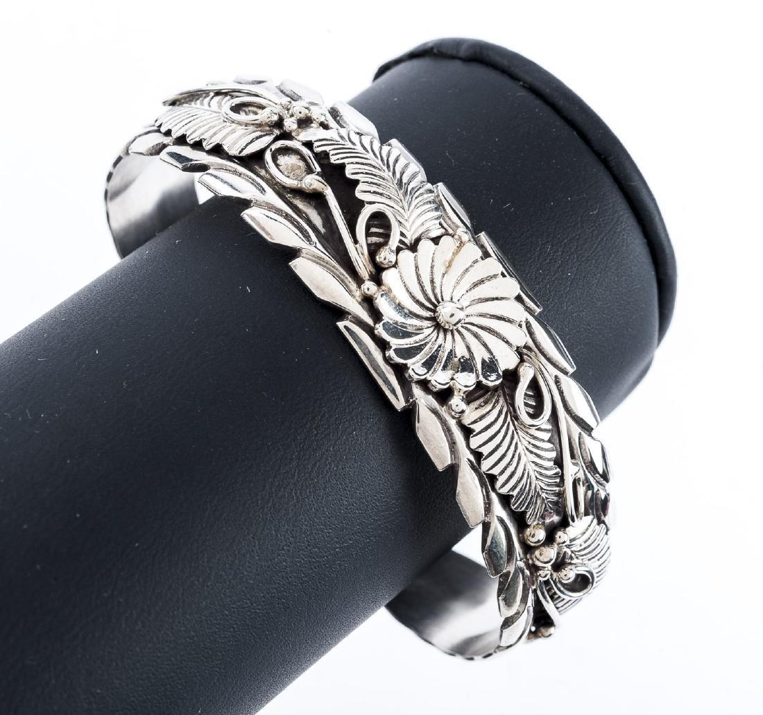 HC Navajo Sterling Cuff Bracelet