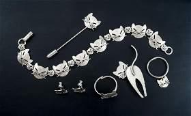 6 Pcs Cat Jewelry