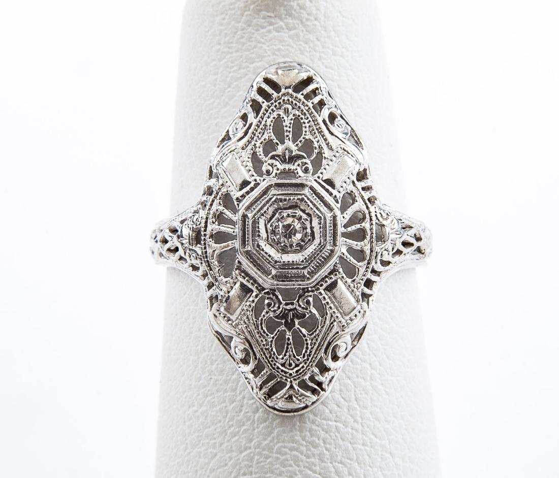 10K Filigree Diamond Ring