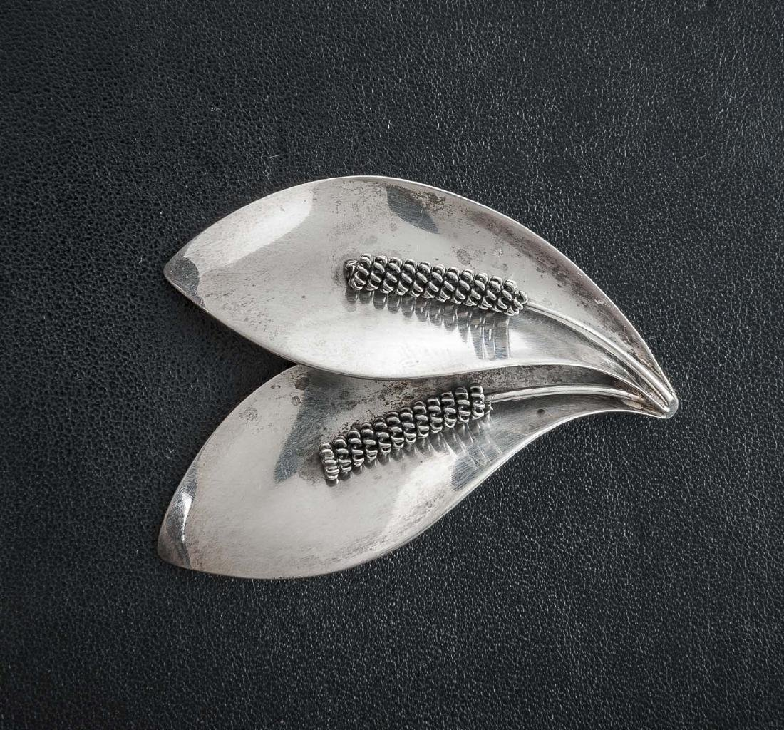 Denmark Sterling Wheat Brooch