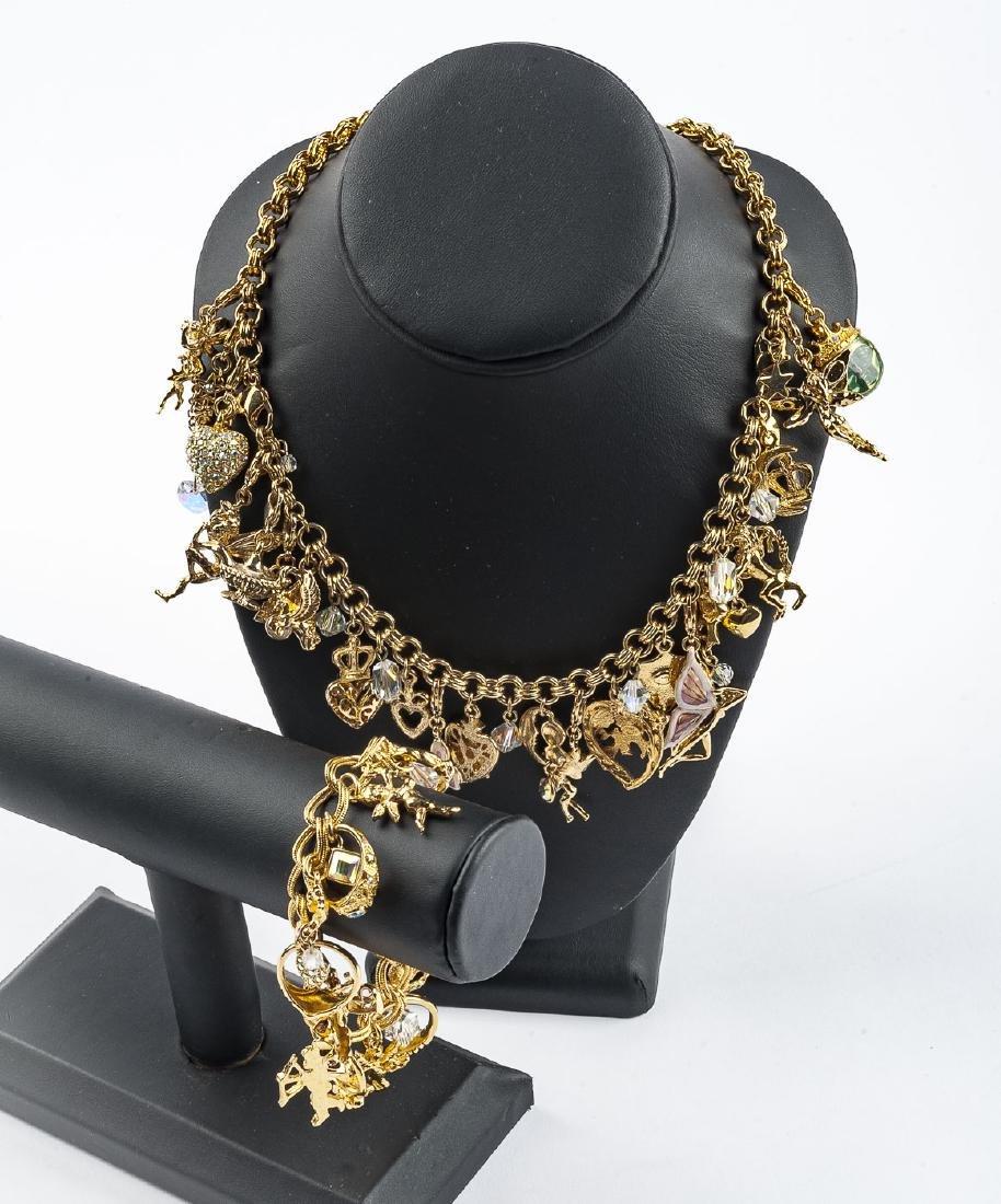 Kirks Folly Charm Necklace & Bracelet