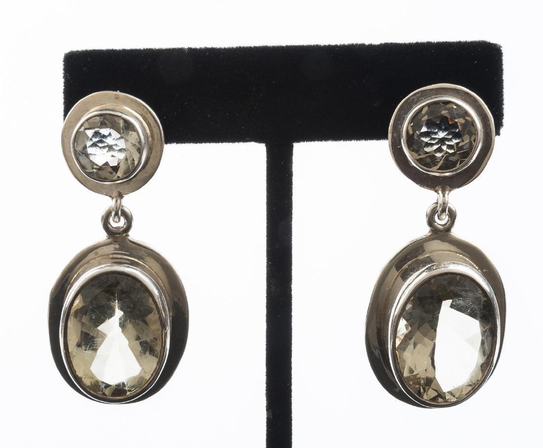 Citrine Pendant Earrings