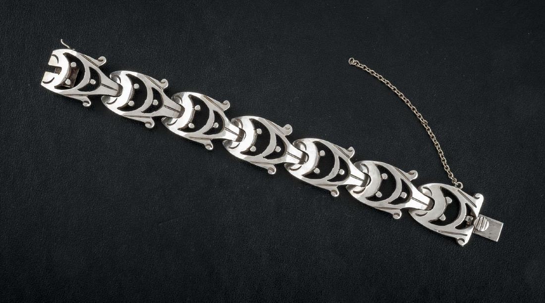 Signed Mexican Sterling Link Bracelet
