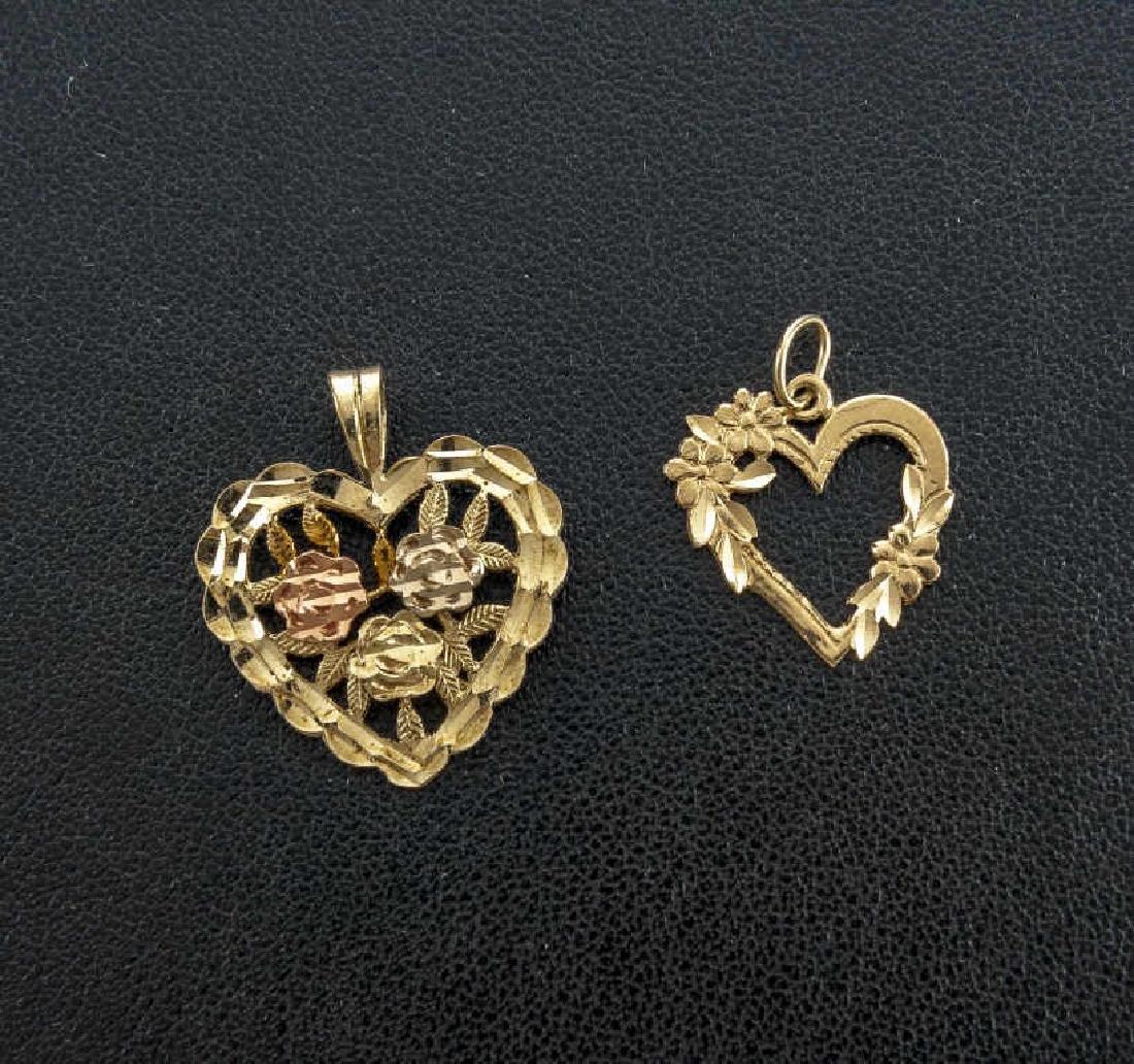 14K Heart Charm & Pendant