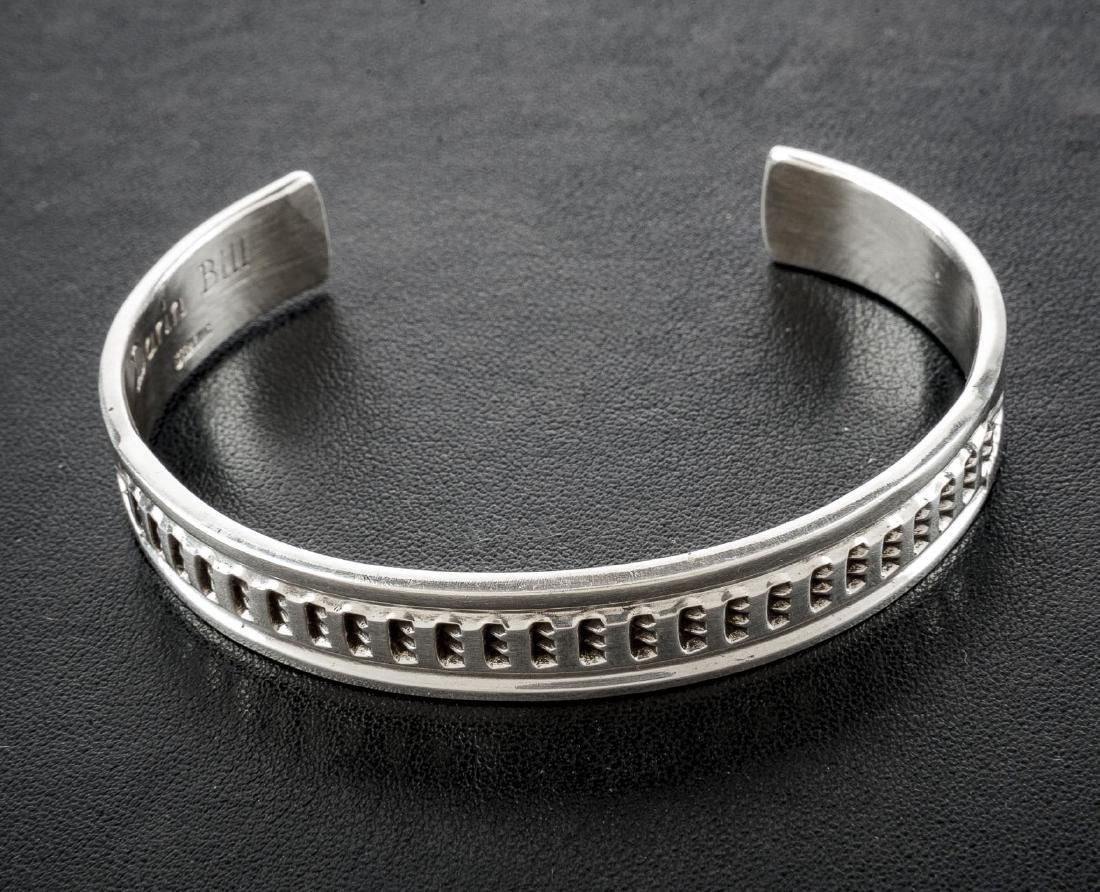 Navajo D. Bill Sterling Cuff Bracelet