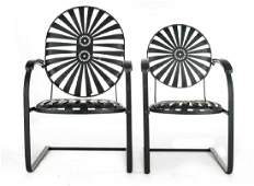 Pair of Mid-Century Modern Outdoor Chairs
