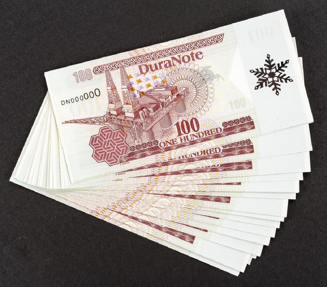 22 Duranote 100 Units Banknote Specimens