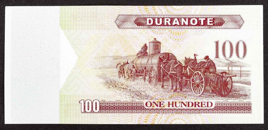22 Duranote 100 Units Banknote Specimens - 2