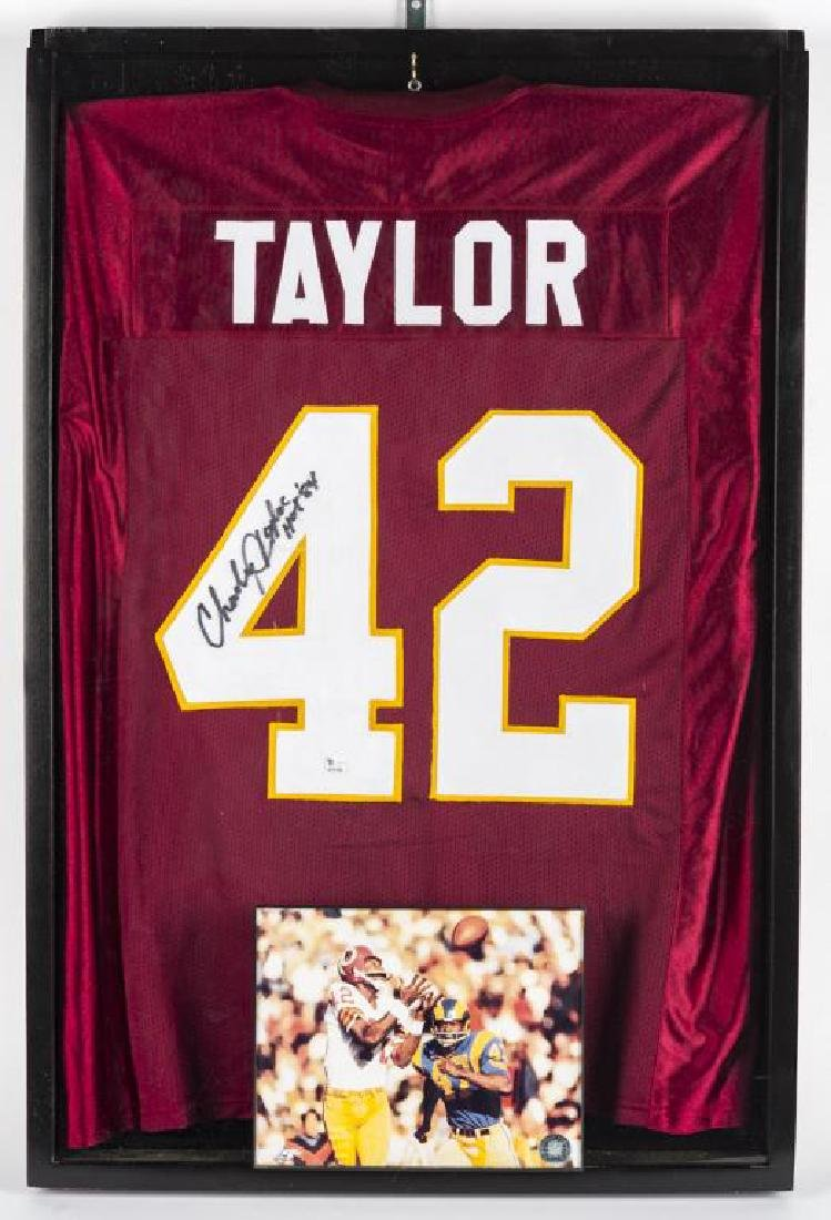 Autographed Charley Taylor Football Jersey