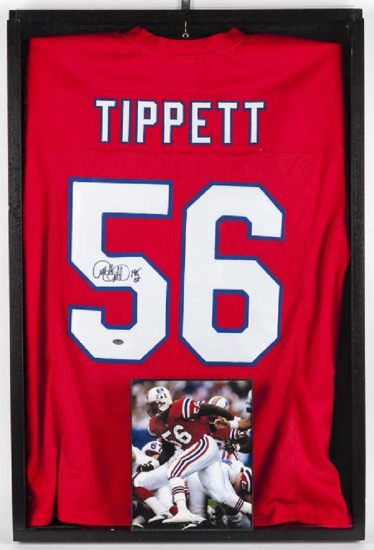 Autographed Andre Tippett Football Jersey