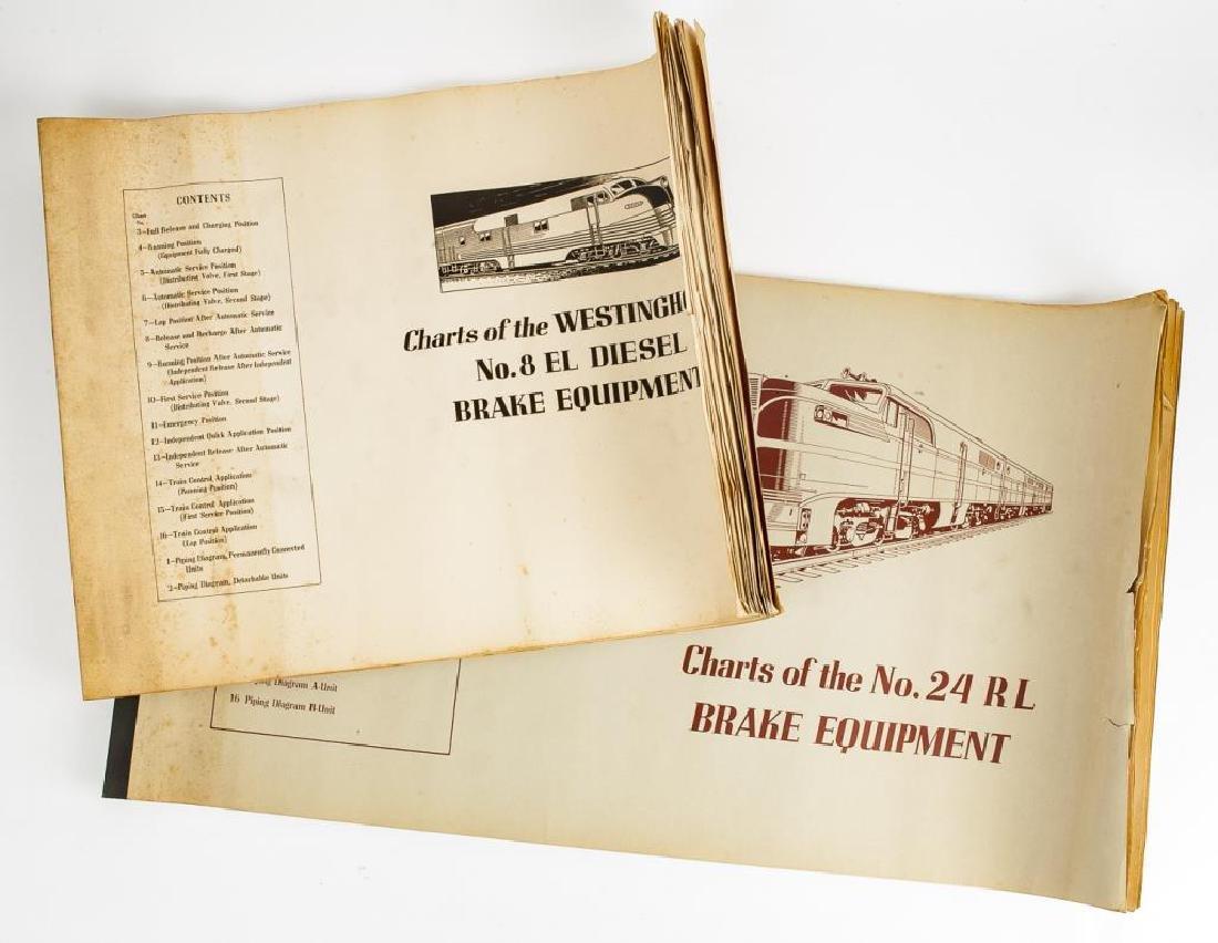 2 Train Brake Repair/Diagram Manuals C. 1940s