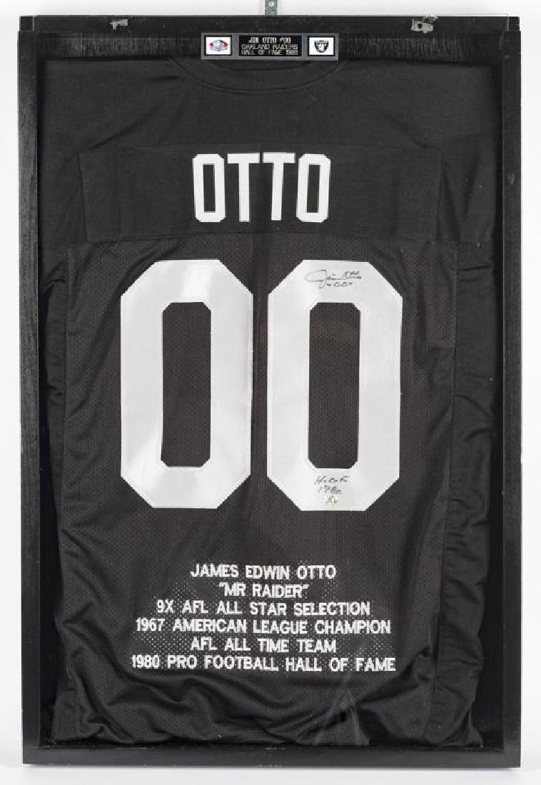 Autographed Jim Otto Football Jersey