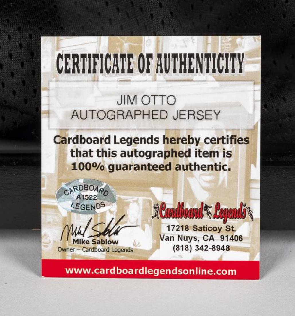Autographed Jim Otto Football Jersey - 2