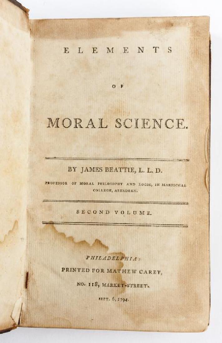 Elements of Moral Science By James Beattie, L.L.D.
