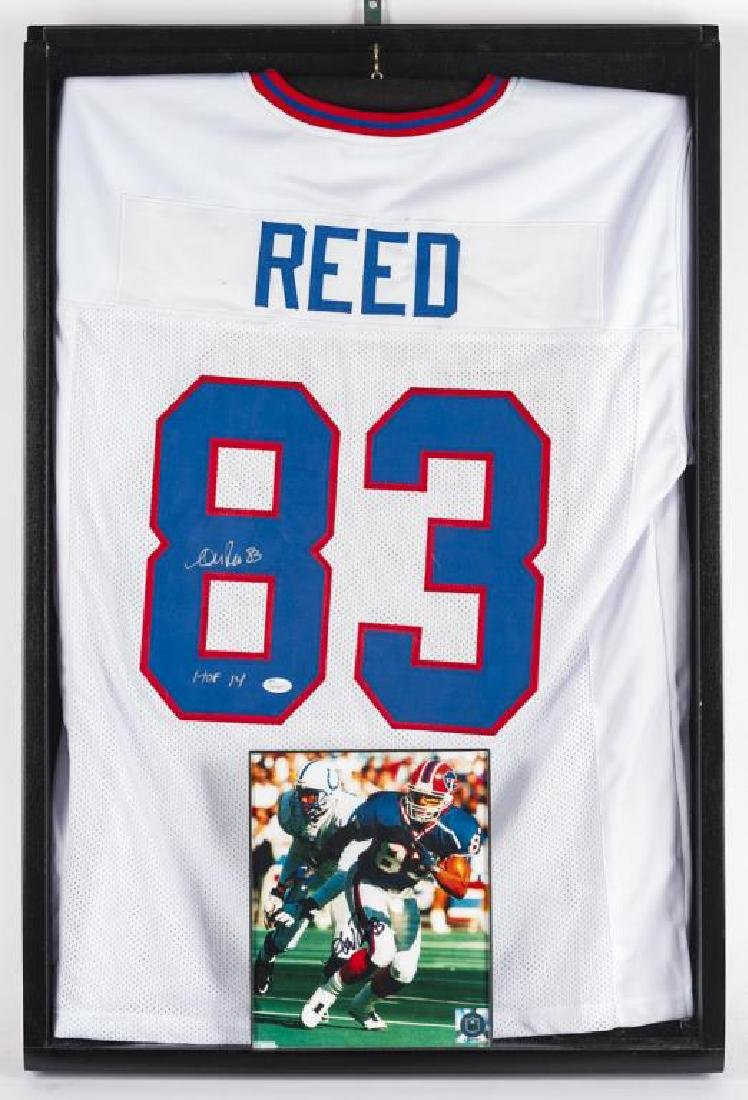 Autographed Andre Reed Football Jersey
