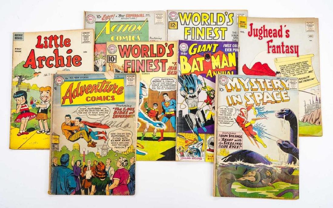 7 Vintage Comics Incl Archie, Action Comics, More