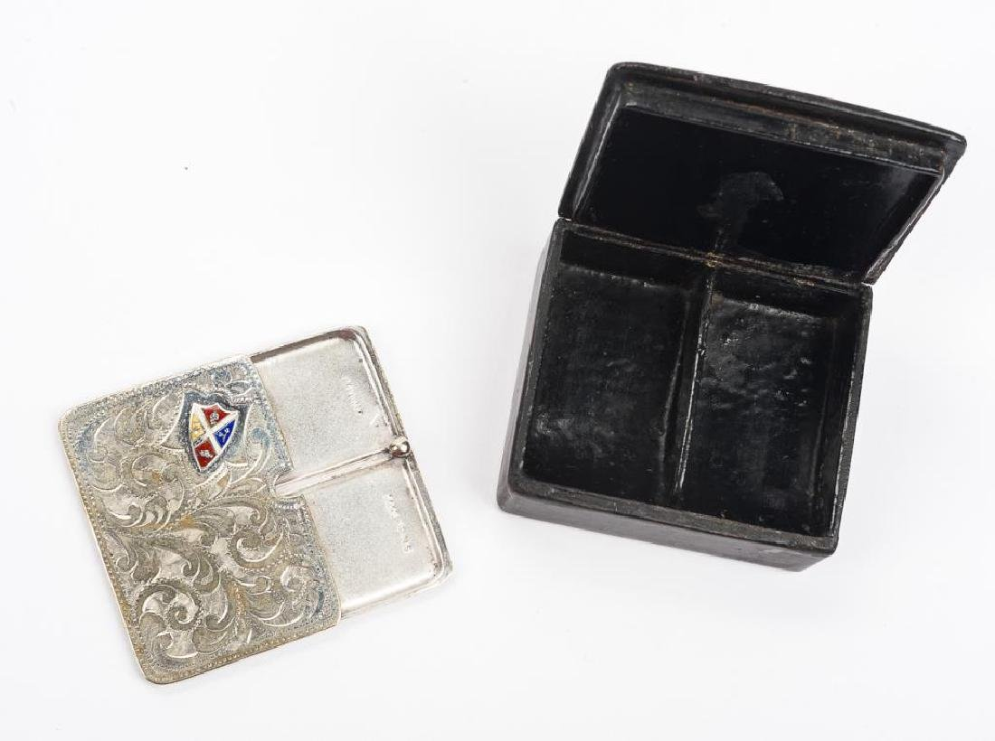 2 Stamp Cases incl Lacquer and Silverplate - 2