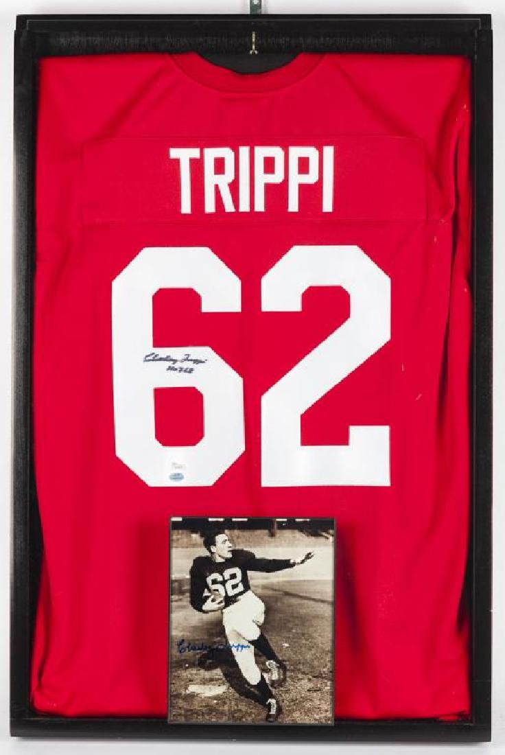 Autographed Charley Trippi NCAA Football Jersey