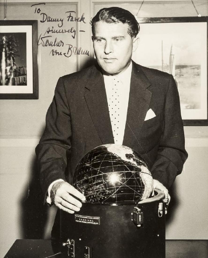 Wernher von Braun Autographed Picture