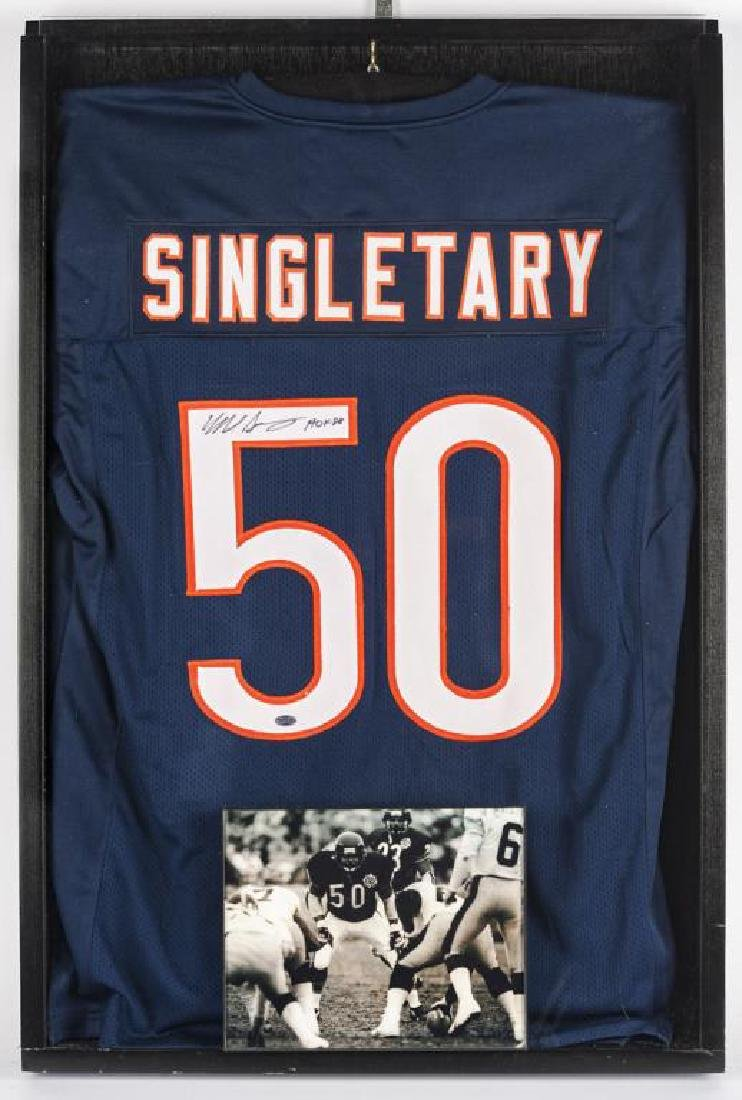 Autographed Mike Singletary Football Jersey