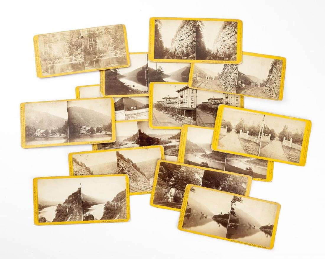 14 Penna Central Railroad Stereoscopic Views