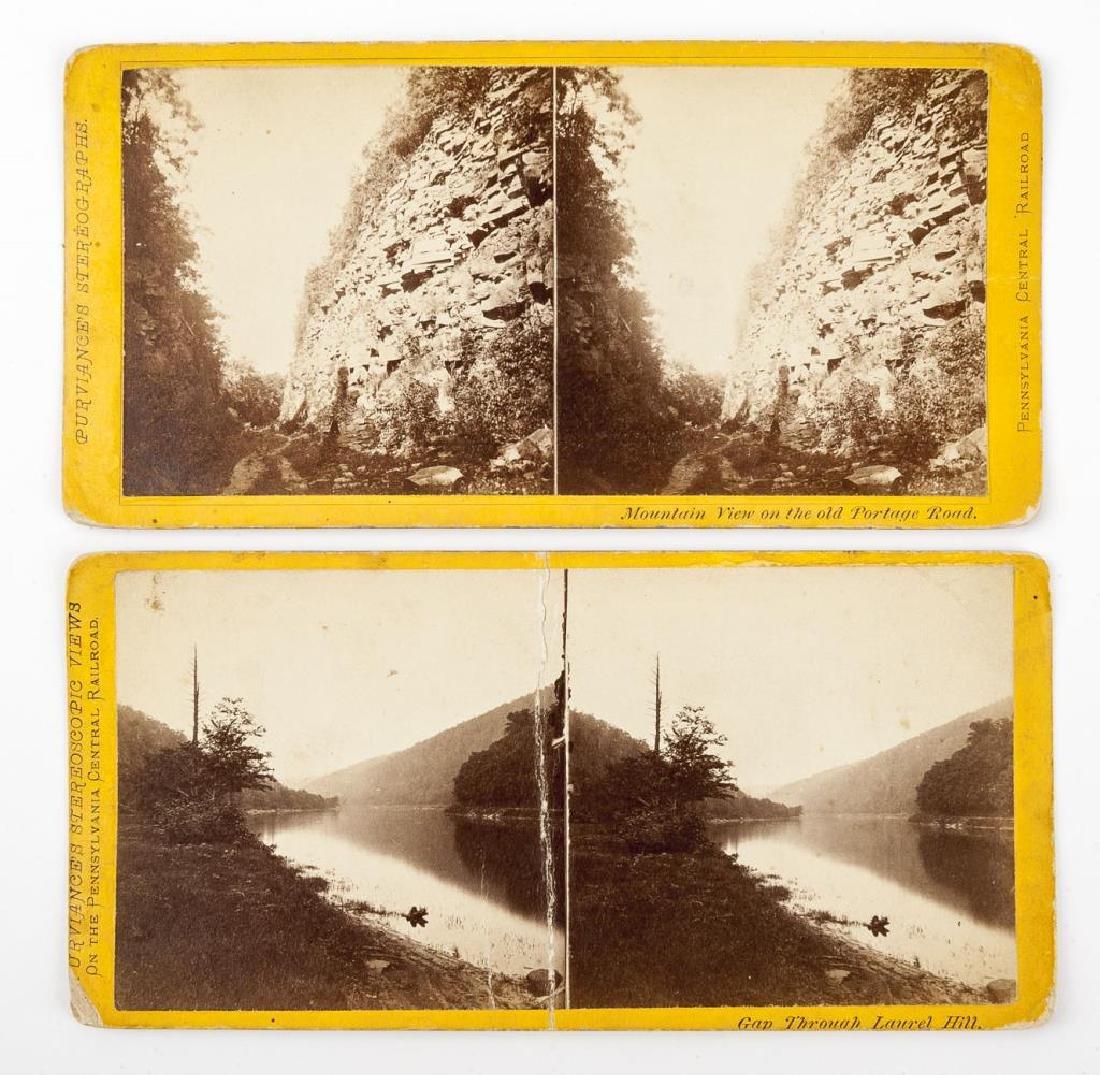 14 Penna Central Railroad Stereoscopic Views - 2