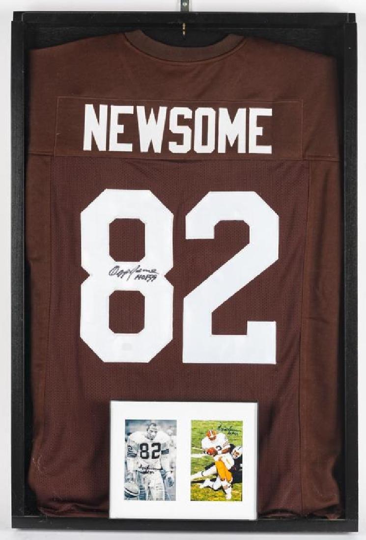 Autographed Ozzie Newsome Football Jersey