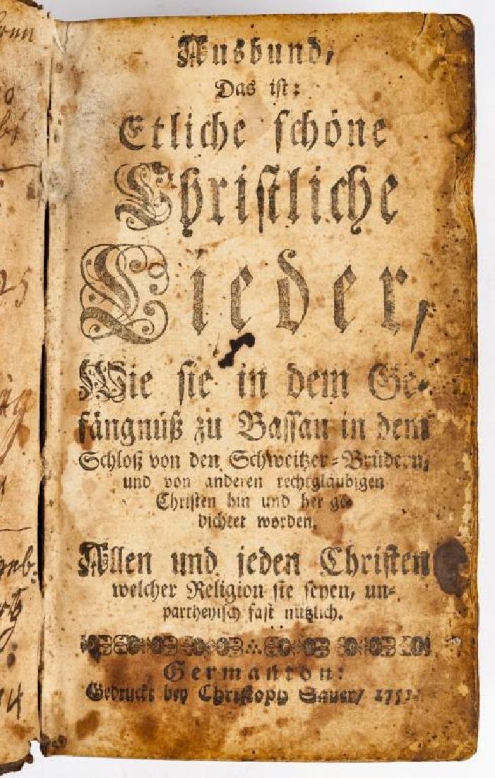 Ausbund Hymnbook Printed in Germantown, PA - 4