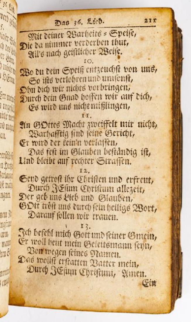 Ausbund Hymnbook Printed in Germantown, PA - 5