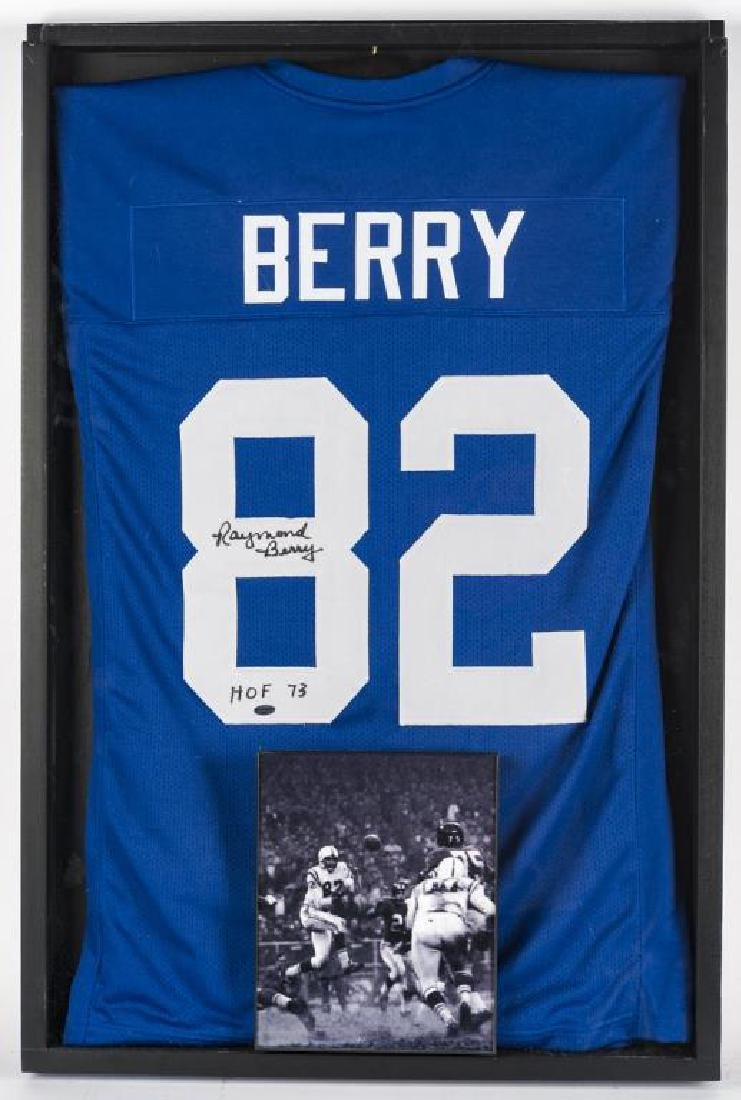Autographed Raymond Berry Football Jersey