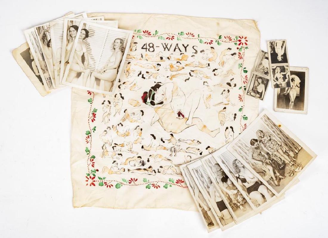 15 Vintage Nude Photographs & 1 Handkerchief