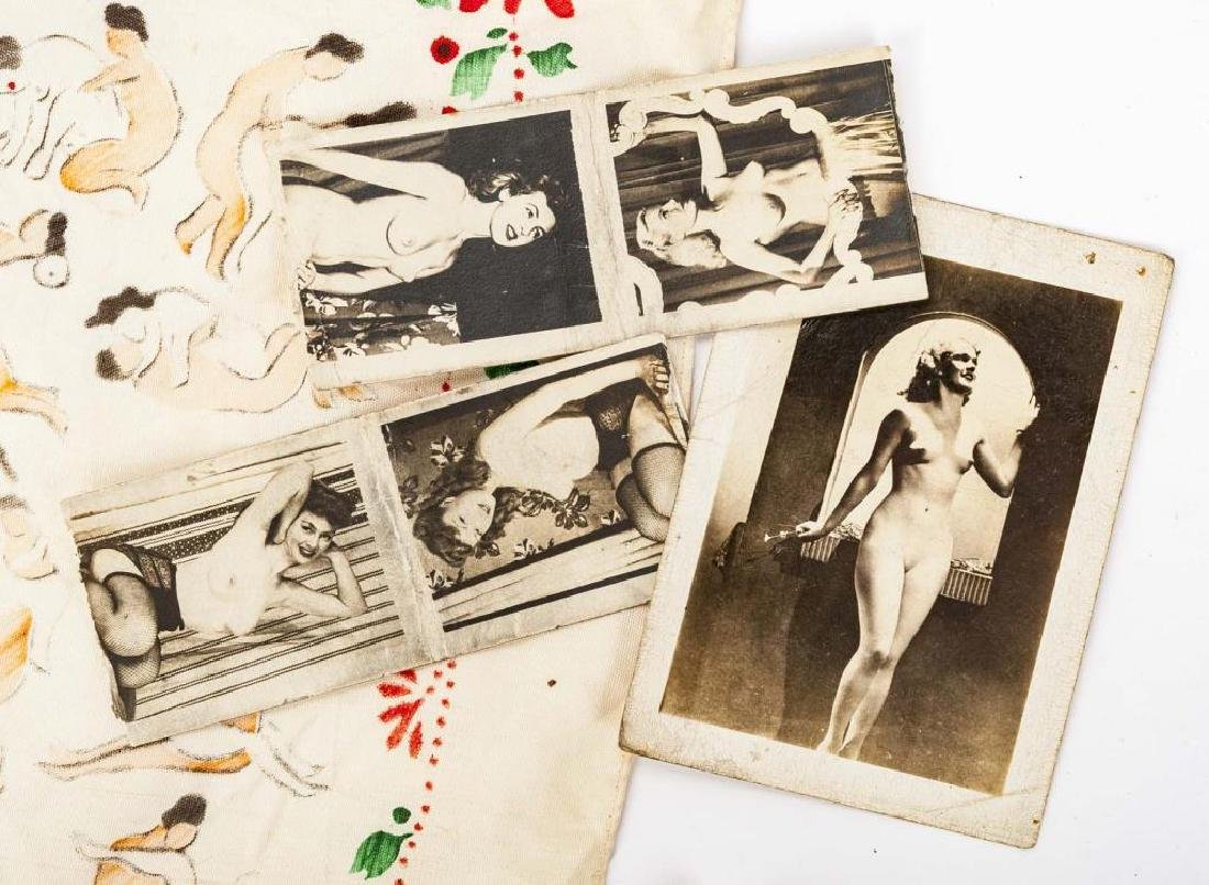 15 Vintage Nude Photographs & 1 Handkerchief - 2