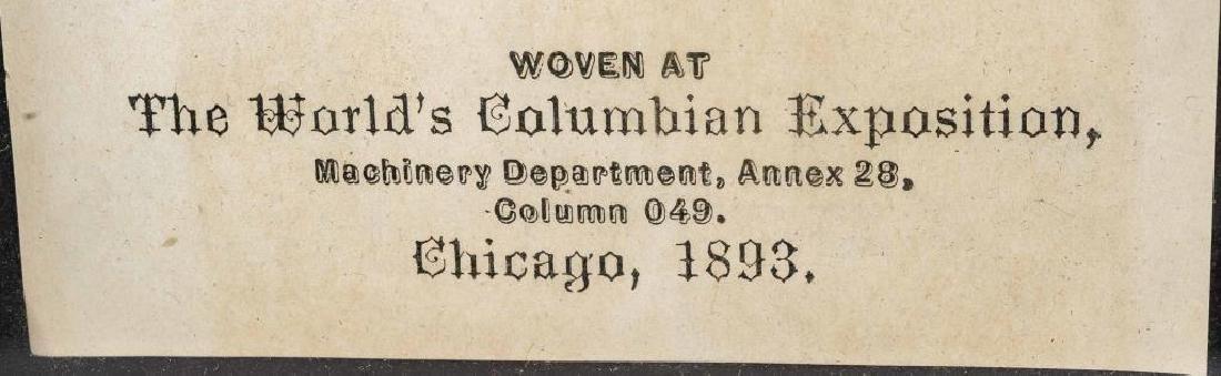 1893 Chicago Worlds Fair Columbian Expo Ribbon - 3