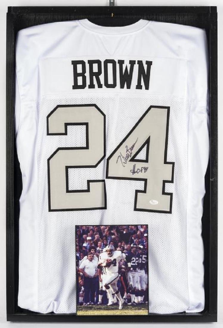 Autographed Willie Brown Football Jersey