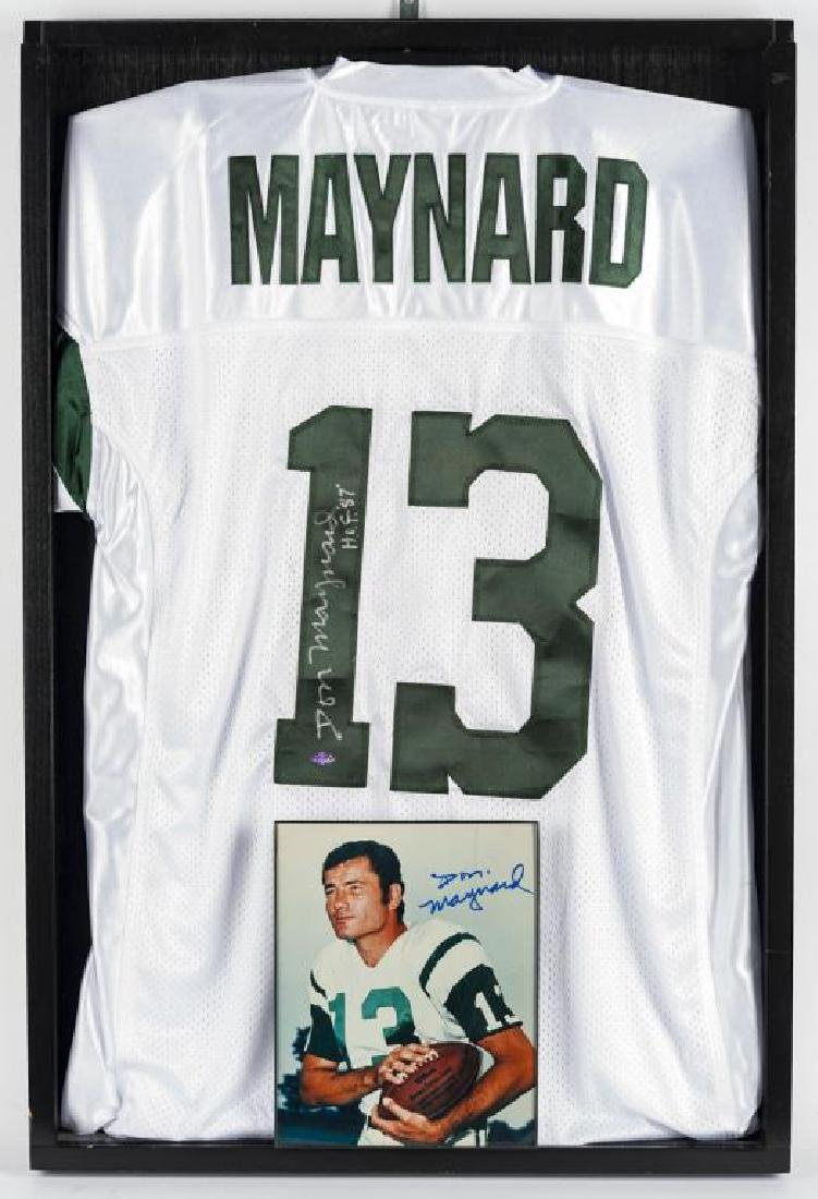 Autographed Don Maynard Football Jersey