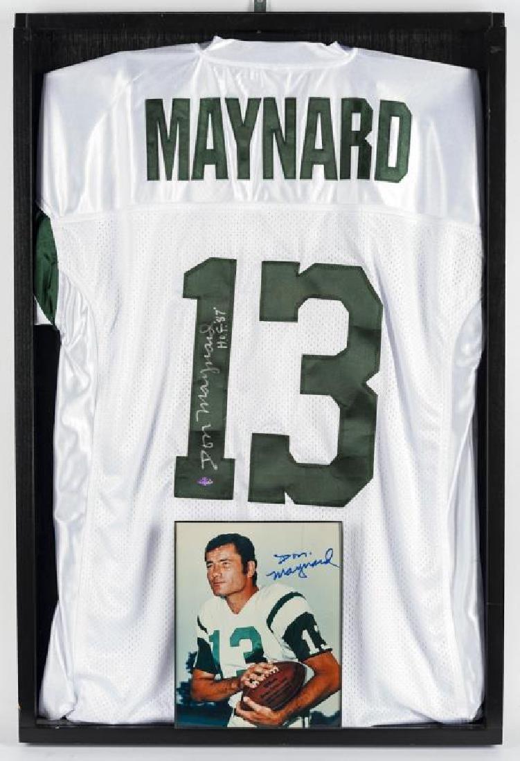 Autographed Don Maynard Football Jersey